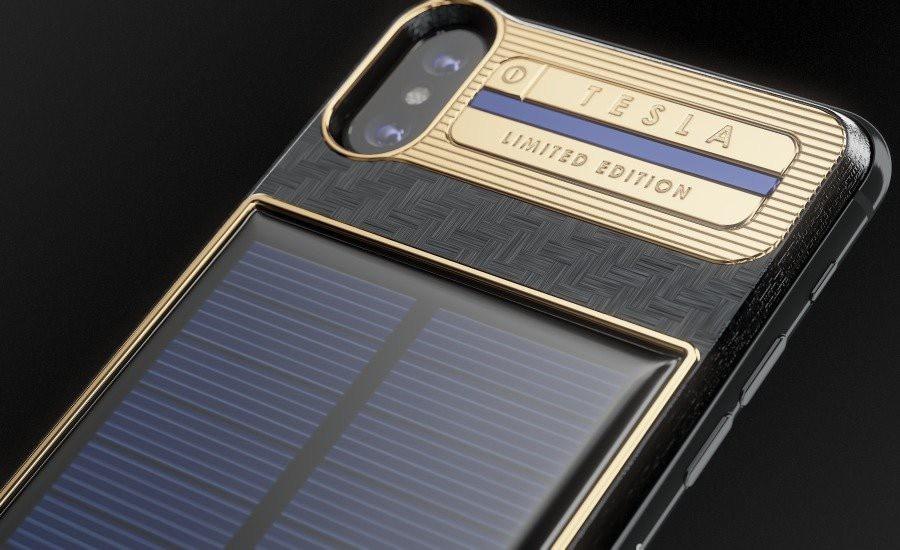 Điện thoại này được trang bị pin năng lượng mặt trời ở mặt sau.