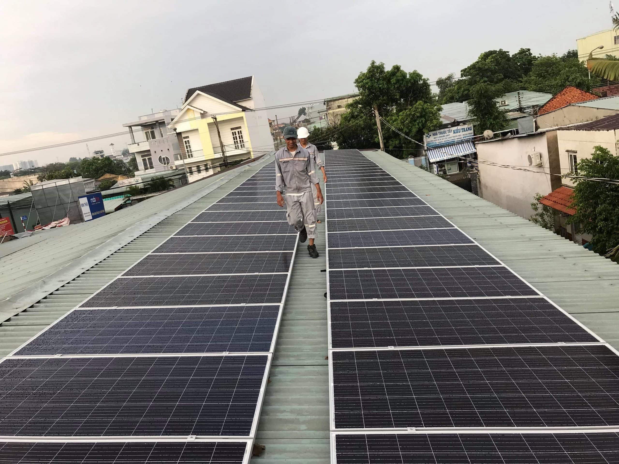 điện năng lượng mặt trời hòa lưới 20kwp