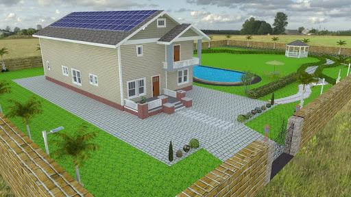 mô phỏng 3d hệ thống điện mặt trời