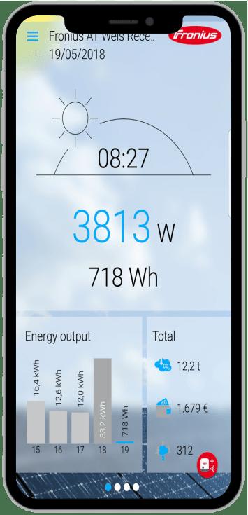 tra cứu pin điện mặt trời trên ứng dụng